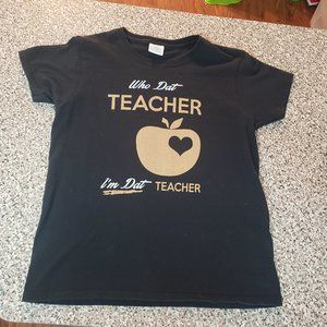 NO Saints Teacher tee
